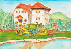 'House for You' by Tao Yao Hua, Aged 13, China: 1st Contest, Silver #KidsArt #ToyotaDreamCar