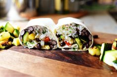 Grilled Veggie Burritos! Flavorful and fun.
