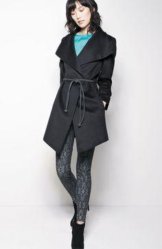 Trilogy by Fleurette Wool Wrap Coat