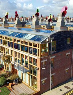 Beddington Zero Energy Development(BedZED) a carbon-emission-free housing and office development in London
