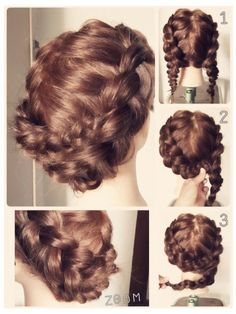 Such a nice hairstyle if only I could braid my own hair...