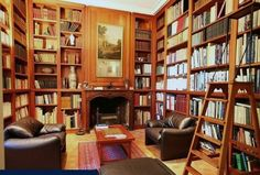 There MUST be a library/sitting room. It will definately be wall to wall, and floor to ceiling.