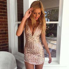Pink Halter Sequined Backless Dress