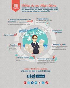 #Infografia #Curiosidades Hábitos de una Mujer Exitosa. #TAVnews