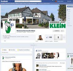 Erstellung Facebook Fanpage, Schulung und Unterstützung bei der inhaltlichen Pflege für den Heimwerkermarkt Klein in Neunkirchen-Seelscheid.  Und natürlich auch mit Impressum :-)