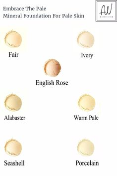 Natural Mineral Makeup 7 Shades For Pale And Fair Skin. It's Vegan Too. A brand especially for pale girls