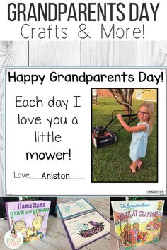 These Grandparent Day keepsake crafts, writing prompts, informative books, and interviews are perfect to help young children understand the significance of the day. I'm sharing everything I use to teach my children all about their grandparents and help them make fantastic gifts! #grandparentsday #kindergarten #preschool #firstgrade #crafts
