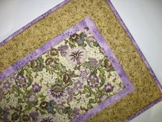 Elegant Table Runner Quilted focus fabric from Kaufman Florentine Line. $37.00, via Etsy.