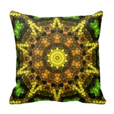 Colorful mosaic throw pillow