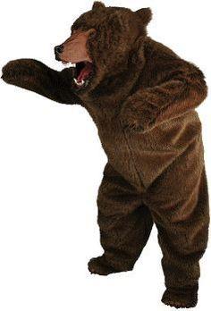 Realistic Full Bear Black Adult Costume | eBay