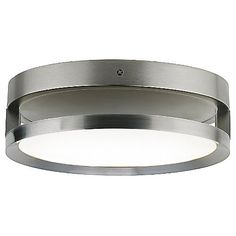 Finch Float Round Flush Mount Ceiling Light by Tech Lighting - Color: White Glass - Finish: Satin Nickel - Ceiling Light Fixtures, Lighting Guide, Glass Shades, Tech Lighting, Soft Lighting, Lighting, Light Fixtures, Lamps Plus, White Glass