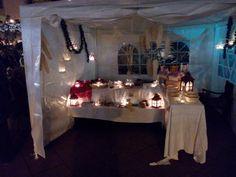 Weihnachtsmarkt in Gustavsburg am 1. Advent 2015 - kein Mittelaltermarkt, sondern im kleinen Pavillon.