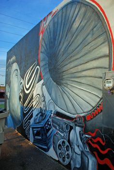 Roy Sproule's  Revolver Records Mural   Downtown Phoenix #streetart