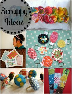 fabric scrap ideas, pleated poppy, check out original links on her boards - love the scrap map Scrap Fabric Projects, Fabric Scraps, Sewing Projects, Diy Projects To Try, Craft Projects, Sewing Crafts, Diy Crafts, Scrap Busters, Scrap Material