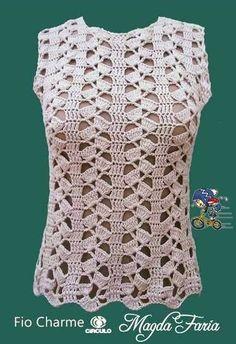 Discover thousands of images about ⭐️ Blusa sin mangas ⭐️ Blusas tejidas ⭐️ Esquemas de Ganchillo Débardeurs Au Crochet, Lidia Crochet Tricot, Crochet Tunic Pattern, Gilet Crochet, Crochet Woman, Easy Crochet Patterns, Crochet Cardigan, Crochet Stitches, Crochet Books