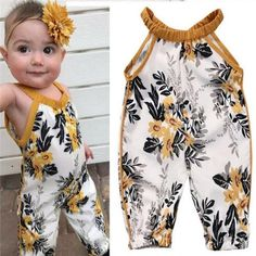 US Stock Newborn Baby Girls Rompers Sleeveless Floral Clothes Bodysuit Jumpsuit – Outfit Ideas for Girls Baby Girl Romper, Baby Girl Dresses, Baby Girl Newborn, Baby Crib, Baby Summer Dresses, Baby Bodysuit, Baby Girl Fashion, Toddler Fashion, Fashion Kids