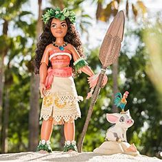 Moana Limited Edition Doll - 16'' | Disney Store Bring Disney's South Sea adventure to life with this intricately designed Moana doll. This limited edition collectible figure features the teenage explorer's elegantly crafted outfit and comes with her animal friends Pua and Heihei.