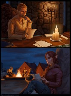 DA - Letters by Darantha on DeviantArt - Aww, this is so adorable! I love the idea of Cullen and the Inquisitor writing each other letters to pass the time while she's away.