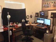 My current edit bay layout