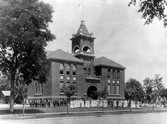 California History -- Merced -- Merced County High School (built 1897)