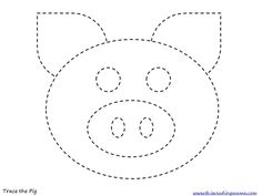 Trace the Pig pict; includes a lot of pre-K farm themed activities