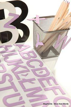 LILIOWE Literki Magnetyczne na Lodówkę - 26 szt, od A do Z w MagWords - More than Words na DaWanda.com #Buchstaben #Letters #Magnets #Literki #Alfabet #doSzkoły #doPrzedszkola