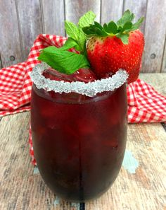 Tickle Me Strawberry Triple Crown Cocktail