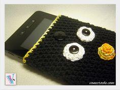 Vanecroche e patch: Capa de croche para tablet Pinguim ou Angry Bird B...