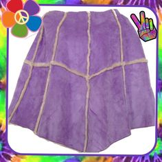 Poncho Faux Suede  NWT Gorgeous brand new with tags faux shearling lined and very warm, lilac colored faux suede poncho.  $140 tag still attached. Cejon Jackets & Coats Capes