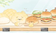 いーすとけん。【公式】 (@yeastken) | Twitter Cute Food Drawings, Cute Animal Drawings Kawaii, Cute Cartoon Drawings, Kawaii Drawings, Kawaii Chibi, Cute Chibi, Kawaii Art, Cute Food Art, Cute Art