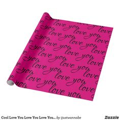 Cool Love You Love You Love You Cute Girly Wrapping Paper