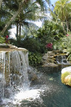 Waterfall  Landscape Architecture Krent Wieland Design - South Florida, Palm Beach County