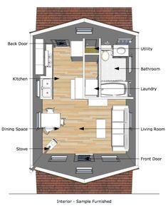 Tumbleweed Tiny House Interior | The Pioneer's Cabin – 16×20 Tiny House Plans | Tiny House Design