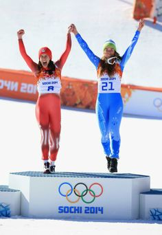 women's downhill skiiers share gold in first olympics alpine tie