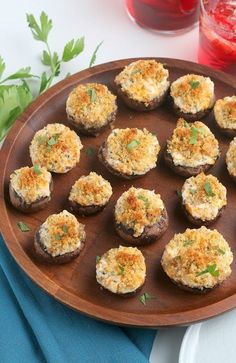 Cheesy Garlic Stuffed Mushrooms | Hot Eats and Cool Reads Stuffed Mushroom Caps, Stuffed Mushrooms, Appetizer Recipes, Appetizers, Kinds Of Cheese, Mushroom Recipes, Cheddar Cheese, Garlic, Vegetarian