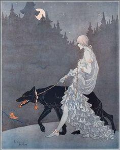 Queen of the Night by Marjorie Miller, art deco illustration