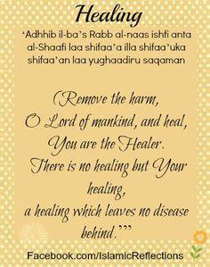Dua for healing Source Tumblr Healer, Islamic Quotes, Religion, Lord, Faith, Muslim, Spirit, Nice, Islam