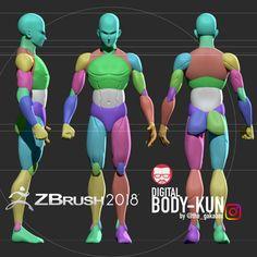 My digital bodykun , Ranyert Guanipa [the_gakabox] Zbrush Anatomy, 3d Anatomy, Anatomy Drawing, Human Anatomy, Zbrush Character, 3d Model Character, Character Modeling, Character Design, Character Art