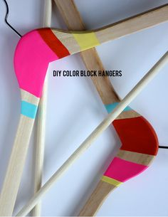 DIY Color Block Hangers