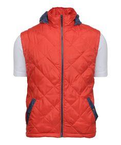 60% discount on Keaton Sleeveless Jacket - Red at yepme.com