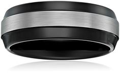 Sapphire Tungsten 8mm Black Finish TwoTone Comfort Fit Wedding Bands Rings for Men Size 10 *** You can find more details by visiting the image link.