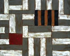 Sean Scully style abstract, Acrylic on canvas 5' x 4' by Timna Wooollard
