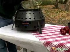 The Volcano II emergency stove! You can use charcoal, propane or just fire. And it doesn't get hot on the outside! Cool!