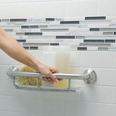 Handicap Bathroom, Bathroom Niche, Budget Bathroom, Bathroom Colors, Bathroom Sets, Tile For Small Bathroom, Master Bathroom, Wet Room Bathroom, Grab Bars In Bathroom
