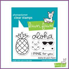 Lawn Fawn Aloha Stamp Set