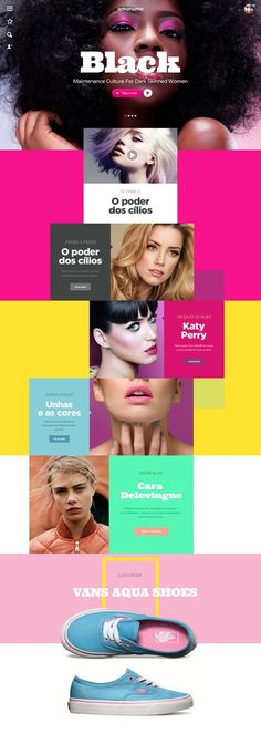 Layout design Inspiration Color Blocking - AMORUME Web Design Published by Maan Ali Design Web, Design Sites, Email Design, Design Blog, Design Services, Rose Design, Design Trends, Website Design Inspiration, Best Website Design