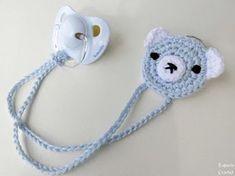 Crochet Baby Bibs, Crochet Baby Clothes, Crochet Toys, Crochet Pacifier Holder, Baby Knitting Patterns, Crochet Patterns, Crochet Amigurumi, Amigurumi Tutorial, Learn To Crochet