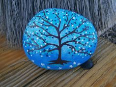 Painted rock Tree by PlaceForYou on Etsy, $14.00