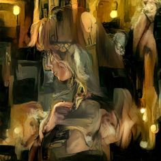 """The Lady Made of Glass Y1 Artificial Intelligence 28"""" x 28"""""""