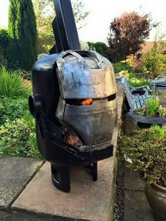 Wood burners & fire pits by Burned by Design - Iron Man Metal Art Projects, Welding Projects, Darth Vader, Gas Bottle Wood Burner, Minions, Custom Fire Pit, Custom Metal, Cool Fire Pits, Metal Fab
